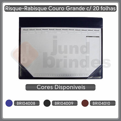 Risque-Rabisque Couro Grande 20fls