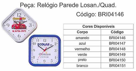 Relógio Parede Losan/Quadrado -BRI04146 à BRI04151