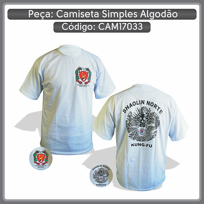 Camiseta simples em algodão