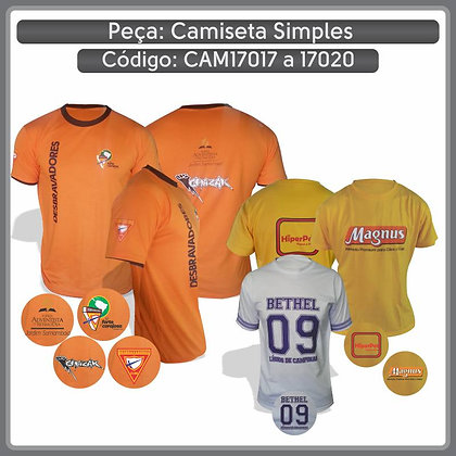 Camiseta simples em PV