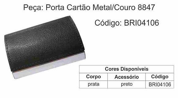 Porta Cartão Metal Couro 8847 - BRI04106