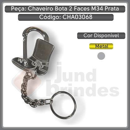 Chaveiro Metal Bota 2 faces M34