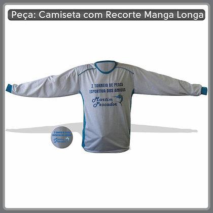 Camiseta com recorte manga comprida em PV