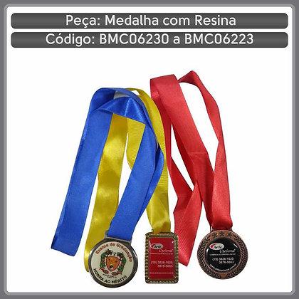 Medalhas com etiqueta resinada