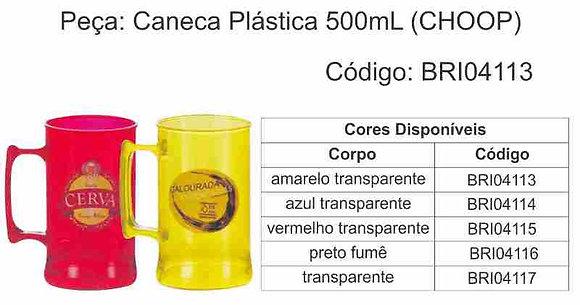 Caneca Plástica 500ML CHOPP - BRI04113 à BRI04117