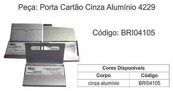 Porta Cartão Cinza Alumínio 4229 - BRI04105