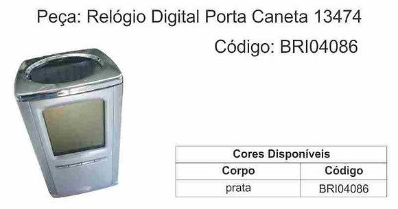 Relógio Digital Porta Caneta 13474 - BRI04086