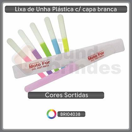 Lixa de Unha Plástica c/ capa branca
