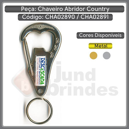 Chaveiro Abridor Country