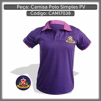 Camisa polo simples em PV