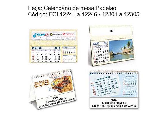 Calendário de Mesa Papelão - FOL12241 à  FOL 12305