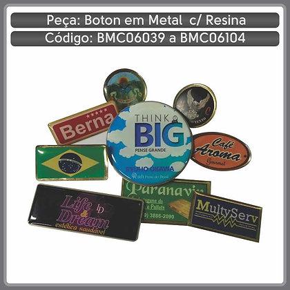 Bottons em metal resinados