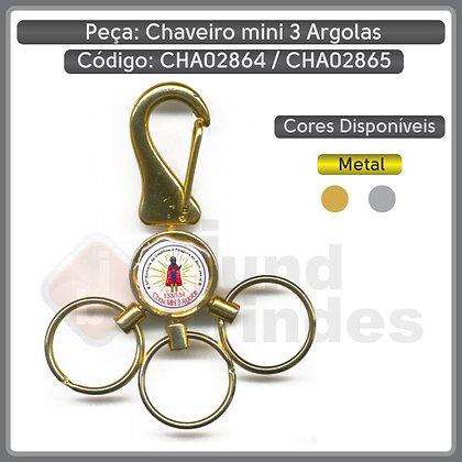 Chaveiro Mini 3 Argola - CHA02864 e CHA02865