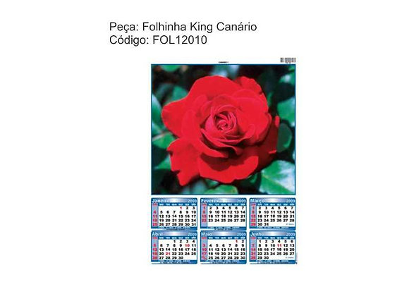Folhinha King Canário - FOL12010