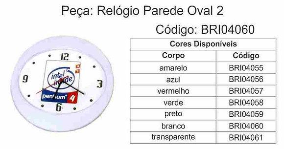 Relógio Parede Oval 2 - BRI04055 à BRI04061