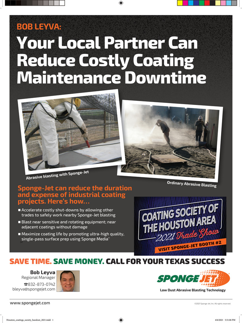 SpongeJet Houston_coatings_society_hando