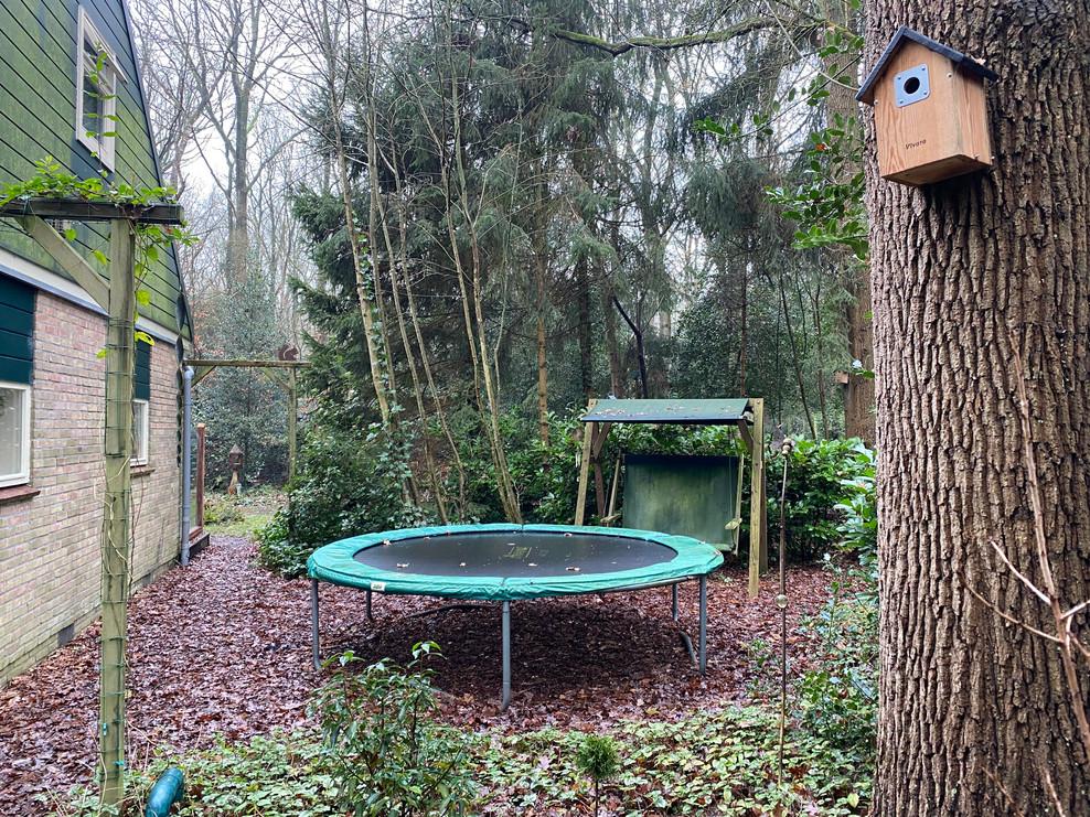 trampoline boshuisje Wateren