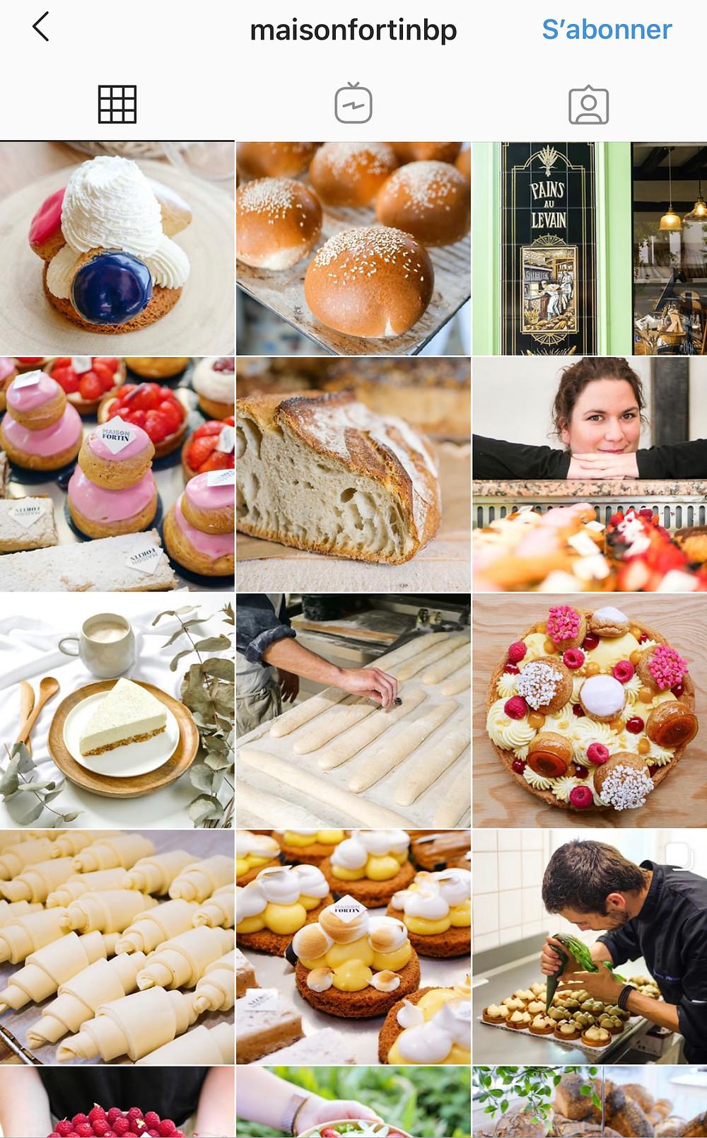 exemple de restaurant sur instagram ou boulangerie pour stratégie