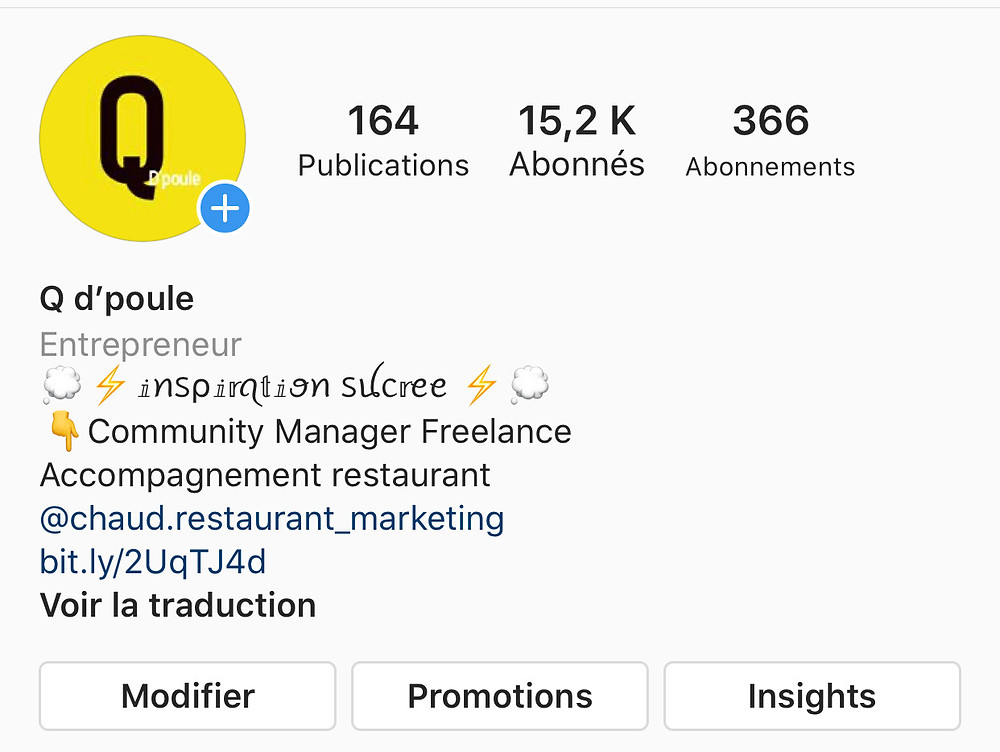 exemple instagram restaurant offre marketing et communication