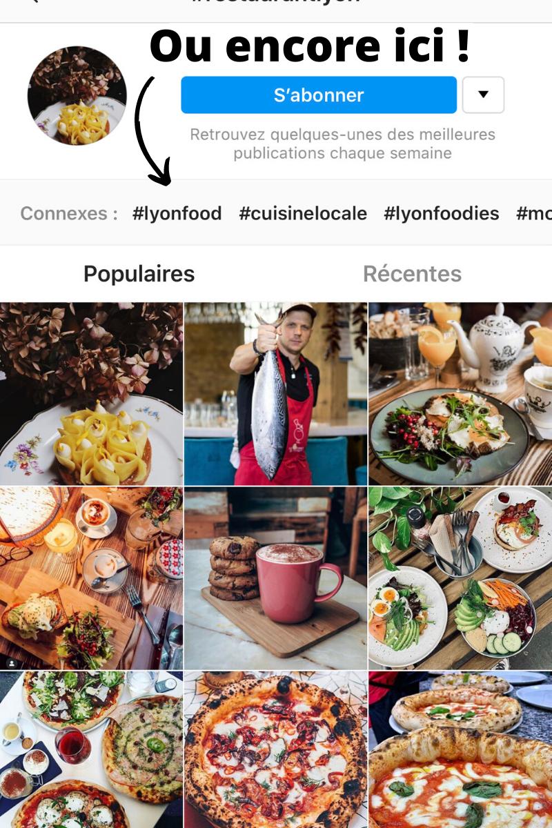 comment trouver des exemples de hashtag pour mon restaurant sur instagram