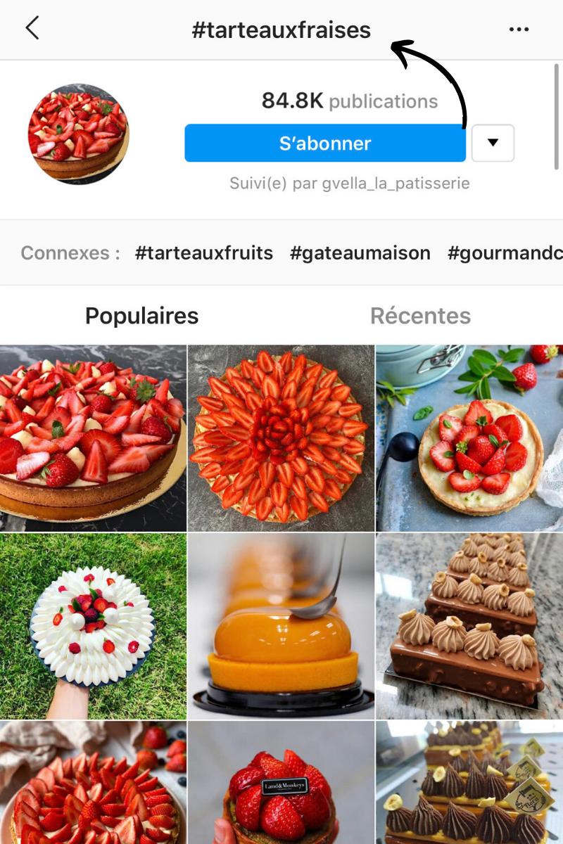 exemple comment trouver des hashtags pour son restaurant