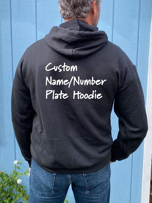 Custom Number / Name Plate / Hoodie