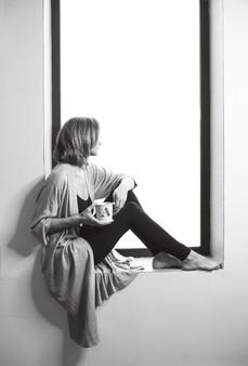 Anastasia in her yoga studio