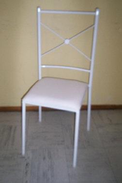 Cadeira Ferro Branco com assento branco