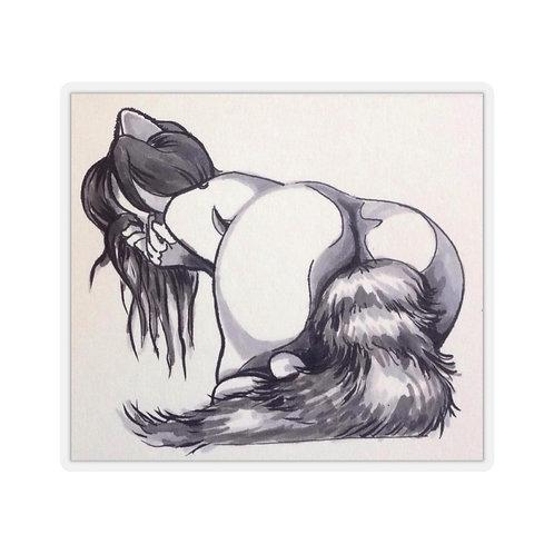 Foxy Kiss-Cut Stickers