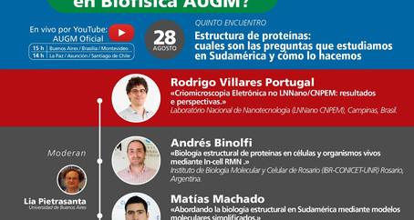 """Tomorrow: Fifth meeting of the cycle """"¿Quién es quién en Biofísica AUGM?"""""""