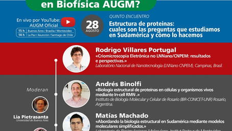 "Tomorrow: Fifth meeting of the cycle ""¿Quién es quién en Biofísica AUGM?"""