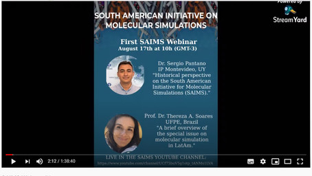 SAIMS Webinars started last Monday. Online right now on Youtube!