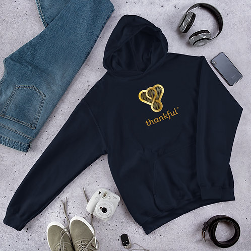 "Thankful ""Gold Music Speaker"" Unisex Heavy Blend Hooded Sweatshirt"