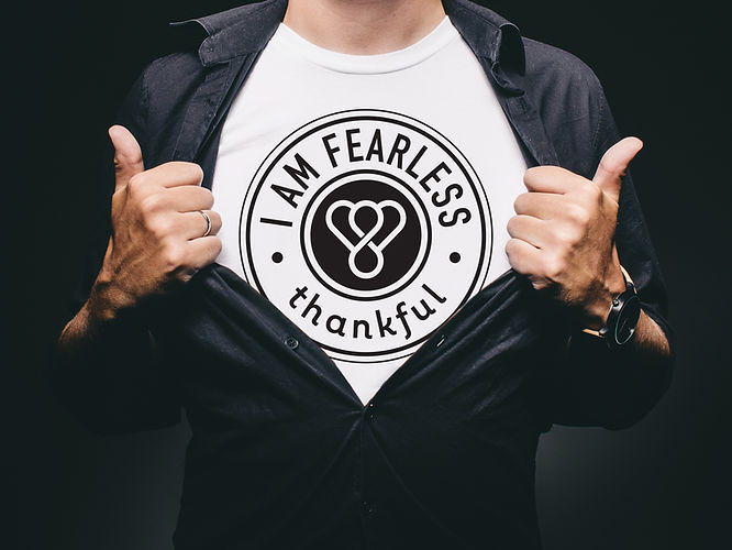 Thankful I am Fearless t-shirt