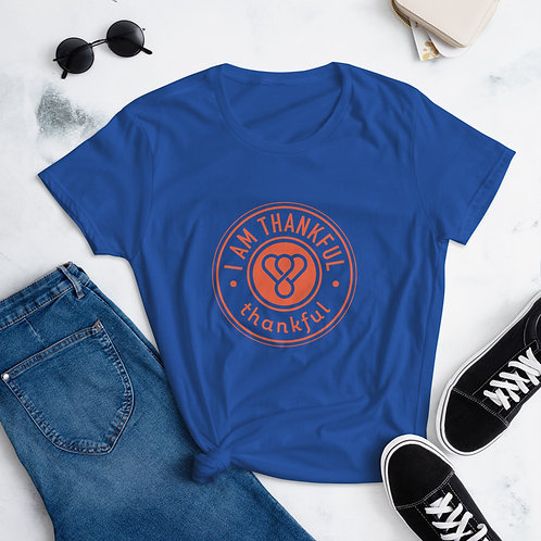 """I am Thankful"" Orange Seal Short Sleeve women's T-Shirt"
