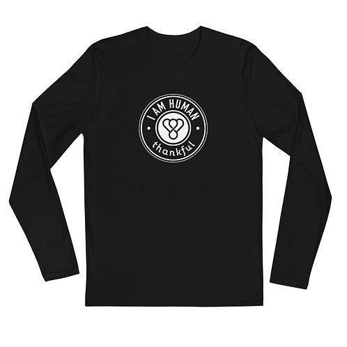 """I am Human"" Seal Long Sleeve Men's Crew T-Shirt"