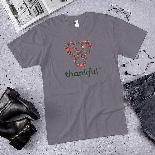 "Thankful ""Floral"" Short Sleeve Men's Jersey T-Shirt"