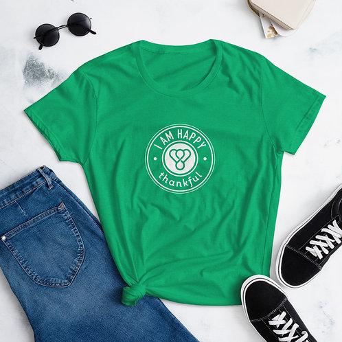 """I am Happy"" Seal Short Sleeve women's T-Shirt"