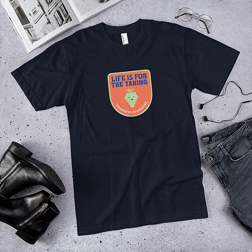 """""""Life is for the taking"""" Short sleeve Mens T-Shirt"""