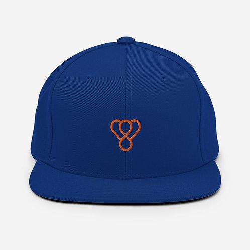 """Thankful """"Orange Logo"""" Snapback Embroidered Hat"""