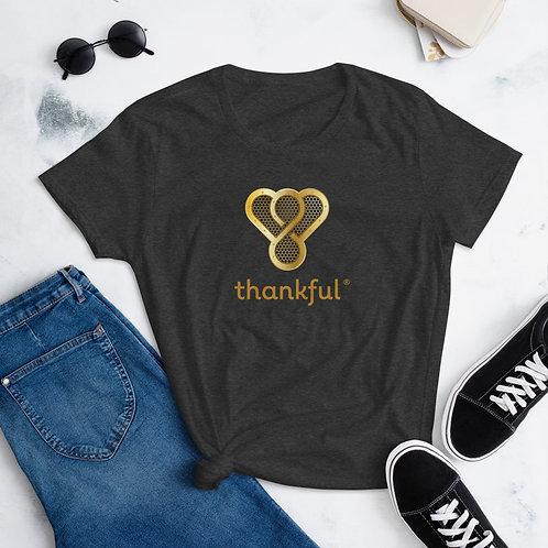 """Thankful """"Gold Music Speaker"""" Short Sleeve women's T-Shirt"""