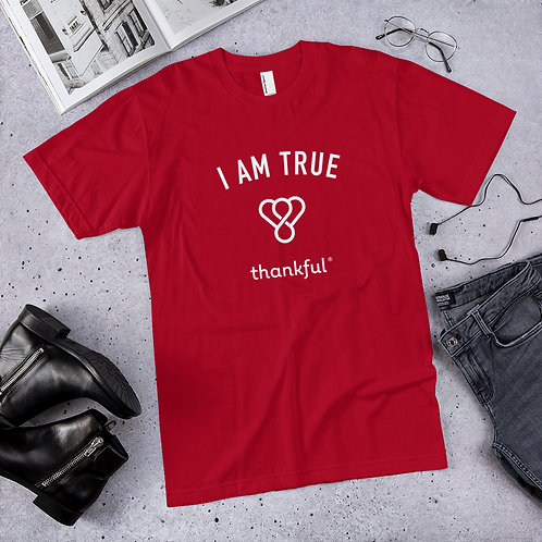 """I am True"" Emblem Short Sleeve Men's Jersey T-Shirt"