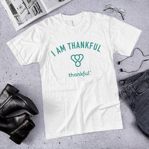 """I am Thankful"" Emblem Short Sleeve Men's Jersey T-Shirt"