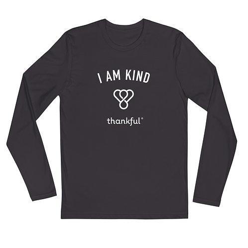 """I am Kind"" Emblem Long Sleeve Men's Crew T-Shirt"