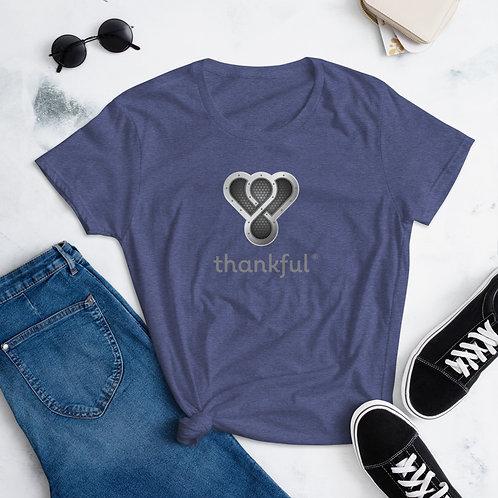 "Thankful ""Silver Music Speaker"" Short Sleeve women's T-Shirt"