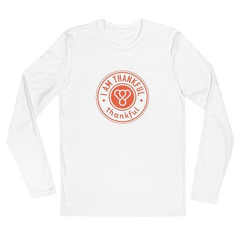 """I am Thankful"" Seal Long Sleeve Men's Crew T-Shirt"