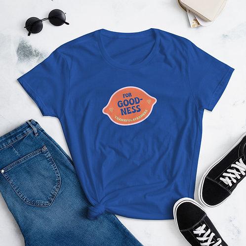 """""""For Goodness"""" Women's short sleeve t-shirt"""