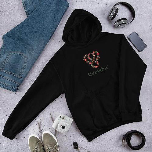 "Thankful ""Floral"" Unisex Heavy Blend Hooded Sweatshirt"