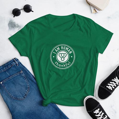 """""""I am Human"""" Seal Short Sleeve women's T-Shirt"""
