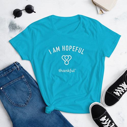 """I am Hopeful"" Emblem Short Sleeve women's T-Shirt"